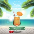 Summer cocktail — Stock Vector #26928517