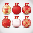 Stock Vector: Christmas ornament set