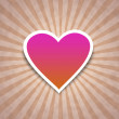 Pink heart on paper — Stock Photo #8849383
