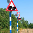 Railway crossing sign — Stock Photo #18954929