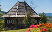 Mountain wooden house — Stock Photo
