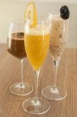 Three non alcoholic cocktails — Stock Photo