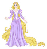 Rapunzel — Vector de stock