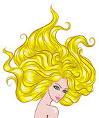 Fashion girl icon blonde — Vector de stock
