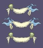 Set of Halloween ribbons — Stock Vector