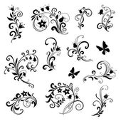 Старинный цветочный дизайн — Cтоковый вектор