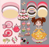 Girl and candy — Stock Vector