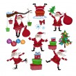 Stock Vector: Santclaus set