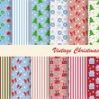 Stock Vector: Set of patterns for Christmas
