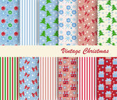 Set of patterns for Christmas — Stock Vector