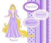 Beautiful princess Rapunzel — Vector de stock