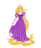 Beautiful princess Rapunzel — Stock Vector
