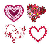 Happy Valentinstag, Liebe Vektor Gruppe — Stockvektor
