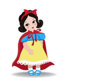 Little Princess Snow White. Snow White as a child. — Stock Vector