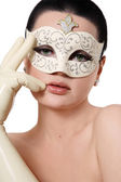 Girl in venetian mask — Stock Photo