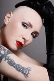 Piękna skinhead — Zdjęcie stockowe