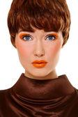 Orange make-up — Stockfoto