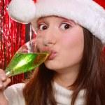 Pretty girl in Santa hat — Stock Photo #14584941