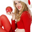 Beautiful Santa helper — ストック写真
