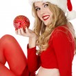 Beautiful Santa helper — Stock fotografie