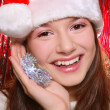 Pretty girl in Santa hat — Stock Photo #14584931