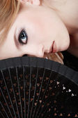 Black fan — Stock Photo