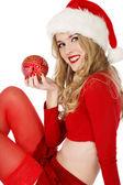 Beautiful Santa helper — Stock Photo