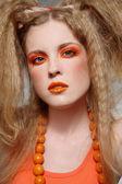 Orange makeup — Stock Photo