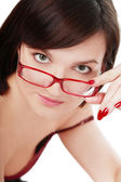 Girl in glasses — Stock Photo