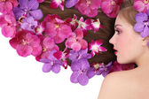 Orchid hairstyle — Stock Photo