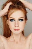 Redhead girl — Stock Photo