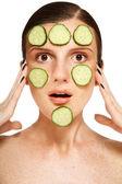 Freckles whitening — Stock Photo