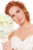Redhead bride — Stock Photo