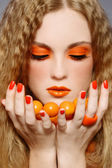 Orange makeup — Stock Photo
