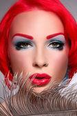 Redhead covergirl — Stock Photo