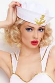 Blonde sailor — Stock Photo