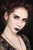 Maquillage vert — Photo