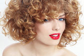 Beauty with curly hair — Stock Photo