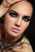 Beauty with smoky eyes — Stock Photo