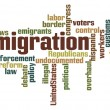 Stock Photo: Immigration Word Cloud