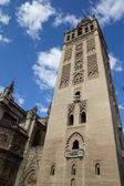 The Giralda (Bell Tower) of the Cathedral of Seville. — Stock Photo