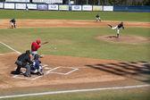 College Baseball Game — Стоковое фото