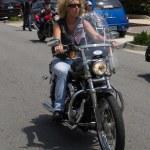 Woman Biker — Stock Photo #45647245