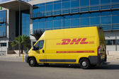 DHL Delivery Van — Stock Photo