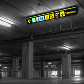 空港駐車場 — ストック写真