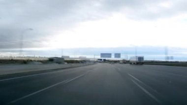 Driving on highway day time lapse