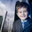 Stock Photo: Child dressed businessmsmiling