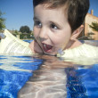 Stock Photo: Boy swimming in a pool