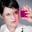 Young brunette female doctor checking laboratory samples with pr - Photo