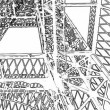 Graphics of Eifel Tower — Stock Video